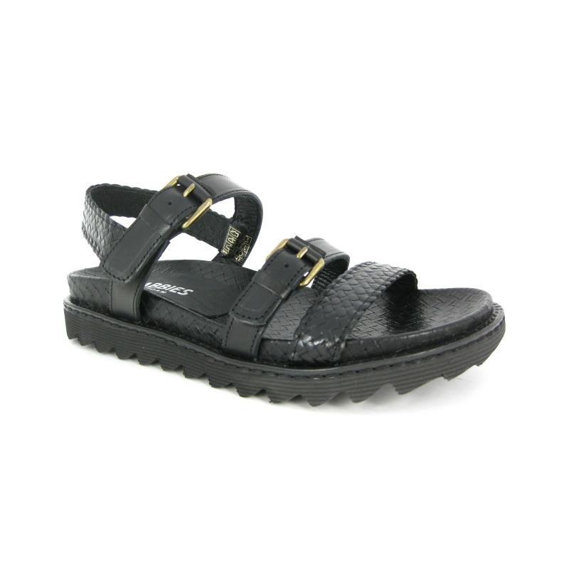 Shabbies Sandaal Zwart