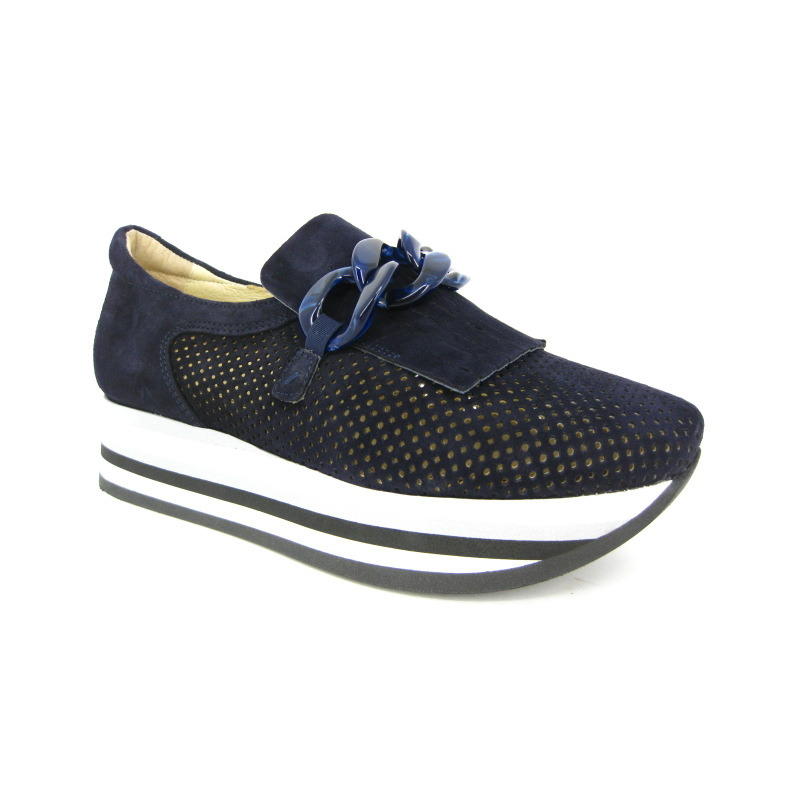 Softwaves Moccassin Blauw